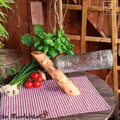 Handmade bottle holder out of lumber
