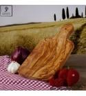 Servierbrett aus Olivenholz, rechteckig und mit Griff