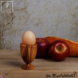 Eierbecher aus Olivenholz klassisch