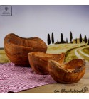 Wood bowl natural look olive wood