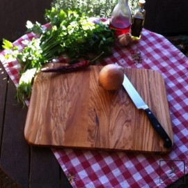 Frühstücksbrett Olivenholz Set, 2 Teile