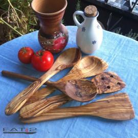 olive wood spatula set of 5 pcs