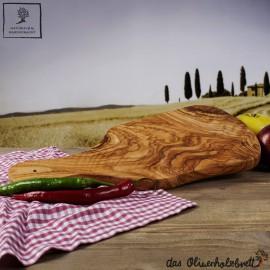 Kräuterbrett aus Olivenholz mit Griff