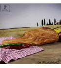 classic olive wood cutting board with handle