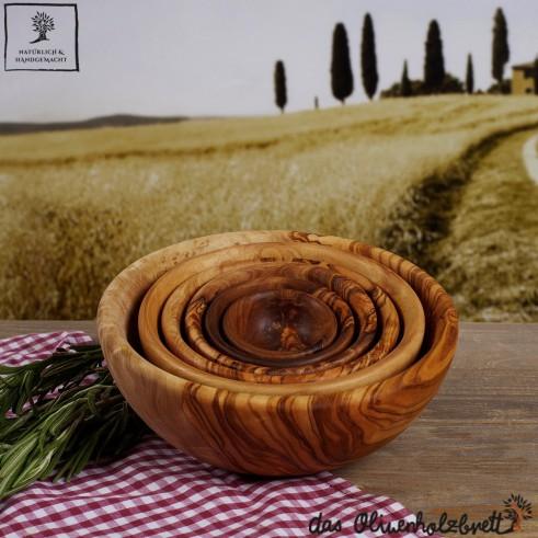 6er Set Schalen aus Olivenholz