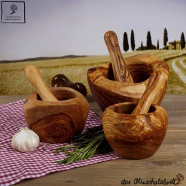 Mortar and pestle, rounded edges