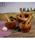 olive wood mortar incl. pestle