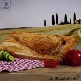 Holz Schneidebrett, rechteckig mit Henkel