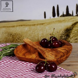 3 - Fächer Schale, Olivenholz
