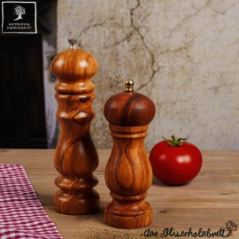 Salt od pepper mill out of olive wood