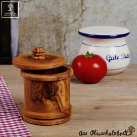Gewürzdose mit Deckel aus Olivenholz