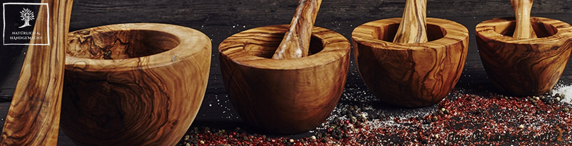 mortar and pestle olivewood